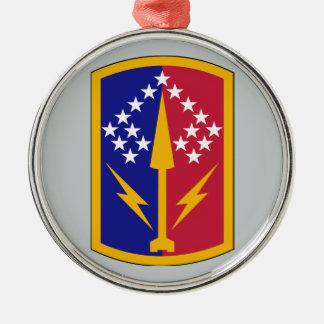 174th Air Defense Artillery Brigade Round Metal Christmas Ornament
