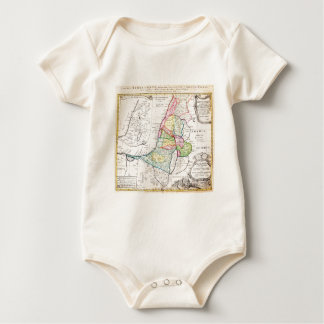 1750 Homann Heirs Map of Israel Palestine Holy Baby Bodysuit
