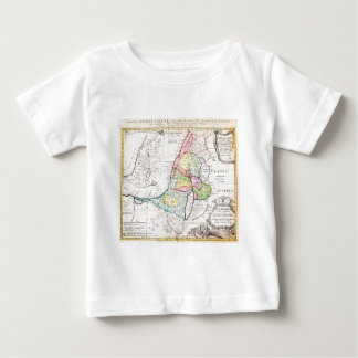 1750 Homann Heirs Map of Israel Palestine Holy Baby T-Shirt