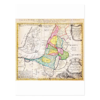 1750 Homann Heirs Map of Israel Palestine Holy Postcard