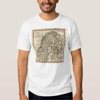 1750 Map of Scandinavia T-shirt