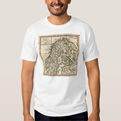 1750 Map of Scandinavia Tee Shirt