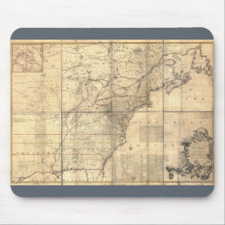 1750 Mitchell Map America Mouse Pad