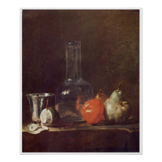 1750-Still Life with Glass Flask Art Poster
