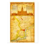 1752 1850 mapas del montón del Scull de Postal
