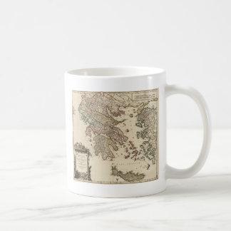1752 Map of Ancient Greece Classic White Coffee Mug