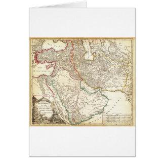 1753 Vaugondy Map of Persia Arabia and Turkey G Card
