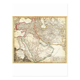 1753 Vaugondy Map of Persia Arabia and Turkey G Postcards