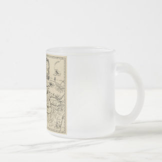 1755 Great Lakes and New France / Canada Map Frosted Glass Coffee Mug