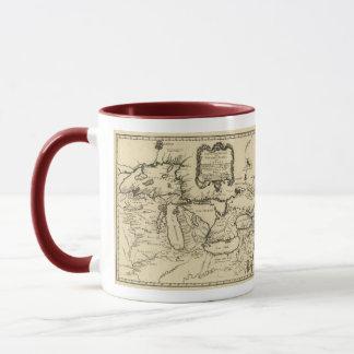1755 Great Lakes and New France / Canada Map Mug