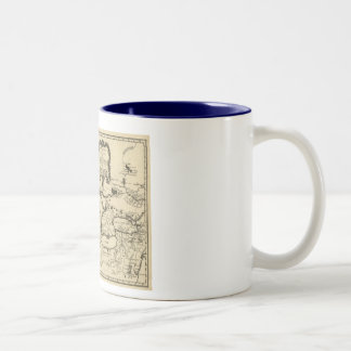 1755 Great Lakes and New France / Canada Map Two-Tone Coffee Mug