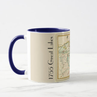 1755 - Rare Map of Great Lakes Territory Mug