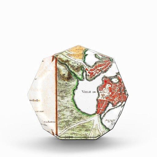 1756 Bellin Map of Boston Massachusetts Geograp Award