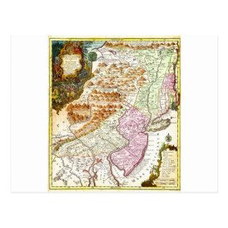 1756 Lotter Map of Pennsylvania New Jersey New Postcard