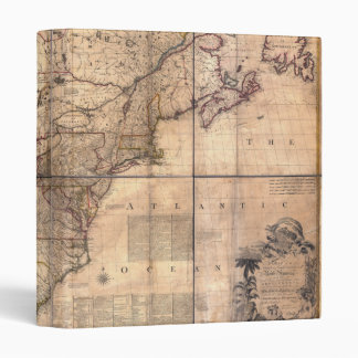 1757 British & French Dominions North America Map Binder