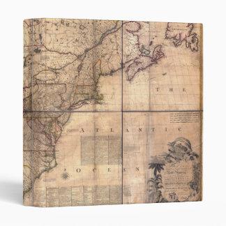 1757 mapa británico y francés de Norteamérica de