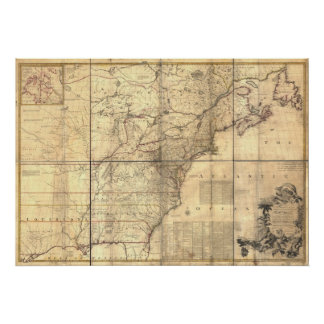 1757 - Thirteen Colonies Poster