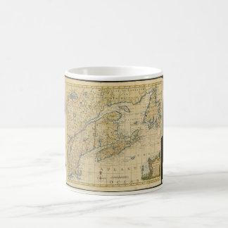 1758 New England & Nova Scotia Map Thomas Kitchin Coffee Mug