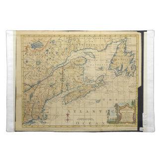 1758 New England & Nova Scotia Map Thomas Kitchin Placemats