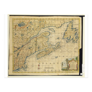 1758 New England & Nova Scotia Map Thomas Kitchin Postcard