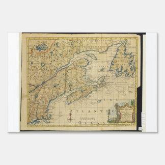 1758 New England & Nova Scotia Map Thomas Kitchin Sign