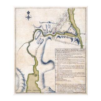 1759 Battle of Ticonderoga Military Map Canvas Print