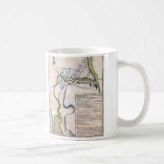 1759 Battle of Ticonderoga Military Map Coffee Mug