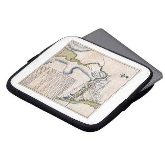 1759 Battle of Ticonderoga Military Map Laptop Sleeves