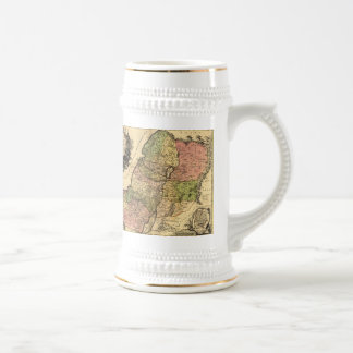 1759 - Map Of Ancient Israel With The 12 Tribes Beer Stein