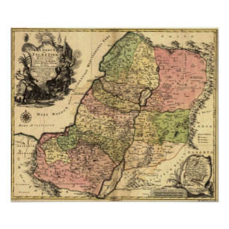 1759 Map of the Holy Land Poster