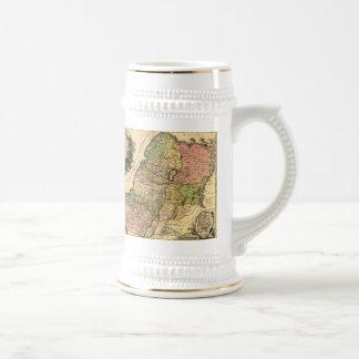 1759 - Mapa de Israel antiguo con las 12 tribus Jarra De Cerveza