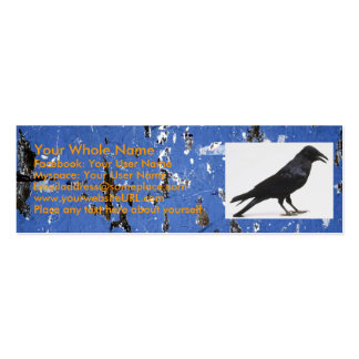 175, crow, Your Whole Name, Facebook: Your User... Mini Business Card