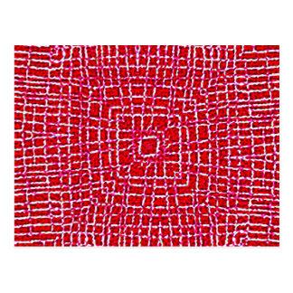 175 RED WHITE SPIDERWEB GRAPHICS DIGITAL WALLPAPER POSTCARD