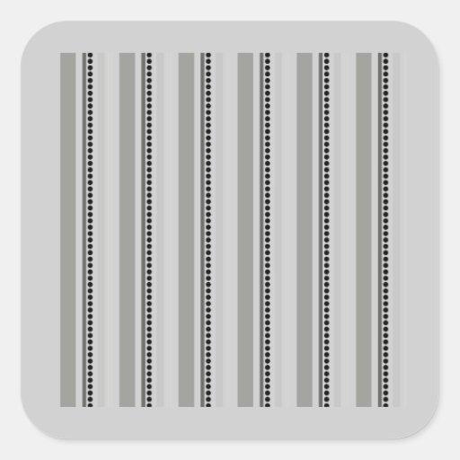 175__stripes-16-overlay BLANCO NEGRO GRIS GRIS Pegatina Cuadrada