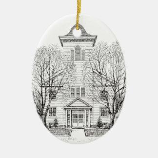 175o Ornamento del navidad del aniversario Adorno Navideño Ovalado De Cerámica