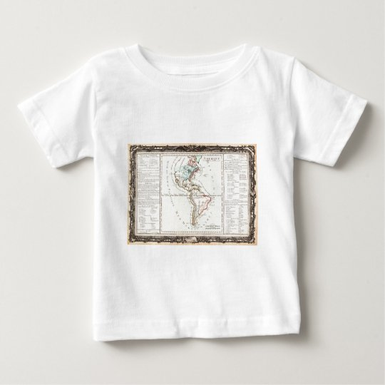 1760 Desnos and De La Tour Map of North America an Baby T-Shirt