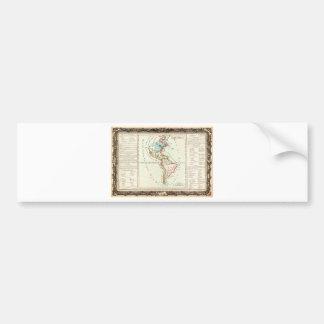 1760 Desnos and De La Tour Map of North America an Car Bumper Sticker