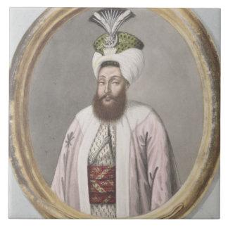 1761-1808) sultanes de Selim III (1789-1807, 'de u Azulejo Cuadrado Grande