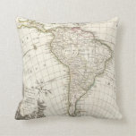 1762 Janvier Map of South America Throw Pillow