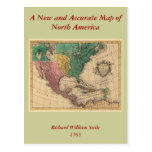 1763 North America Map Post Cards
