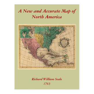 1763 North America Map Postcard