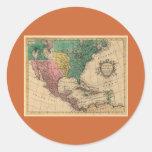 1763 North America Map Round Sticker