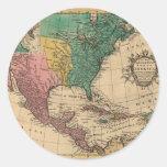 1763 North America Map Sticker