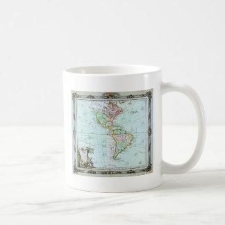 1764 Brion de la Tour Map of America North Ameri Coffee Mug