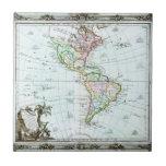 1764 Brion de la Tour Map of America North Ameri Tile