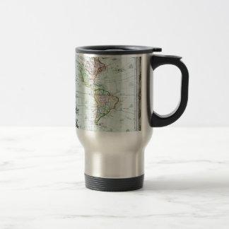 1764 Brion de la Tour Map of America North Ameri Travel Mug
