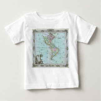 1764 Map of the Americas by Louis Brion de la Tour Baby T-Shirt