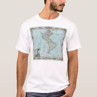1764 Map of the Americas by Louis Brion de la Tour T-Shirt