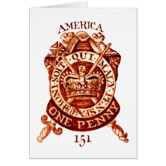1765 American Tax Stamp Card