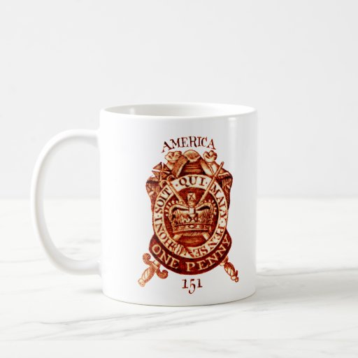 1765 American Tax Stamp Classic White Coffee Mug